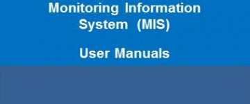 Monitoring Information System  (MIS) - User Manuals